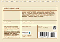 Puma: Auf leisen Pfoten (Tischkalender 2019 DIN A5 quer) - Produktdetailbild 13