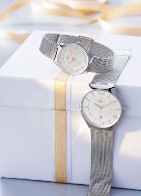 Armbanduhr Damen Uhr im Western Style Edelstahl mit