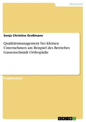 Qualitätsmanagement bei kleinen Unternehmen am Beispiel des Betriebes Gassenschmidt Orthopädie, Sonja Christine Großmann
