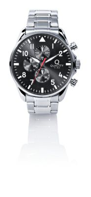 Quality Time Herren Chronograph, silber