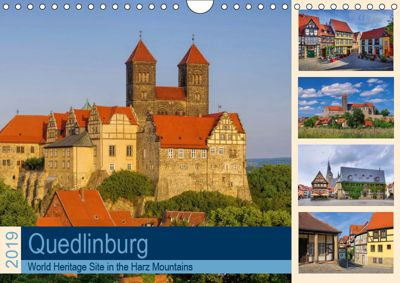 Quedlinburg - World Heritage Site in the Harz Mountains (Wall Calendar 2019 DIN A4 Landscape), LianeM