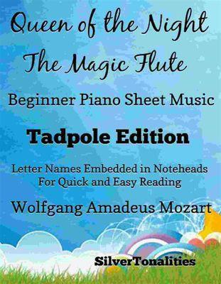 Queen of the Night Magic Flute Beginner Piano Sheet Music Tadpole Edition, Wolfgang Amadeus Mozart, SilverTonalities