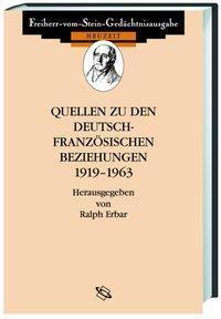Quellen zu den deutsch-französischen Beziehungen 1919-1963