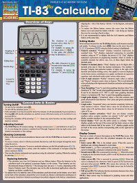 Quick Study Academic: Ti-83 Plus Calculator, Words & Numbers