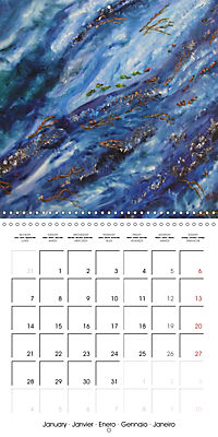 QUIETLY FLOWS THE RIVER (Wall Calendar 2019 300 × 300 mm Square) - Produktdetailbild 1