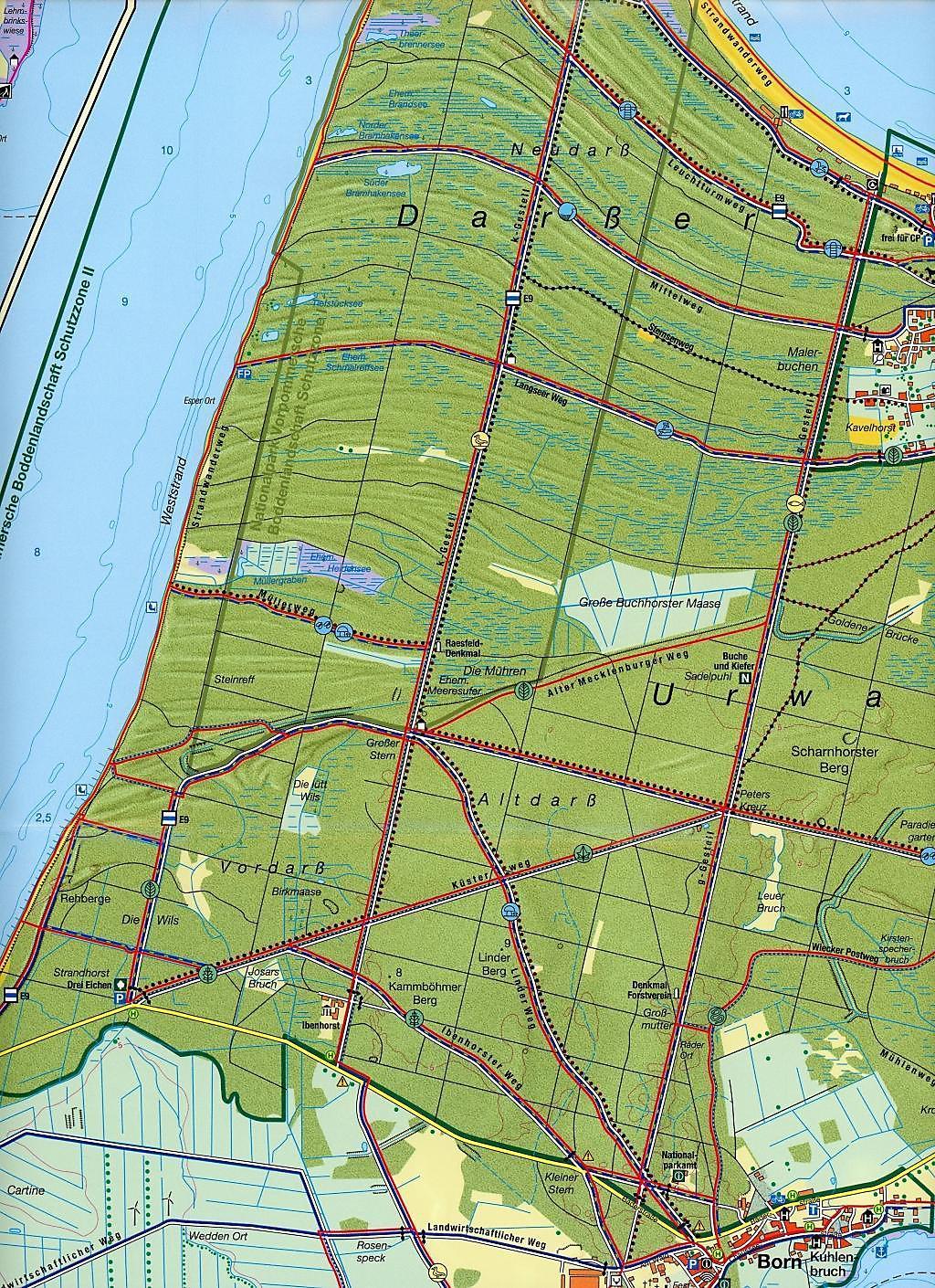 Fischland Darß Zingst Karte.Rad Und Wanderkarte Fischland Darß Zingst Buch Weltbild De