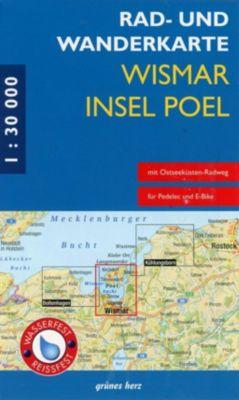 Rad- und Wanderkarte Wismar, Insel Poel