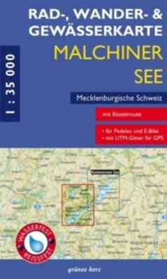 Rad-, Wander- & Gewässerkarte Malchiner See, Mecklenburgische Schweiz