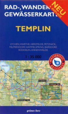 Rad-, Wander- und Gewässerkarte Templin