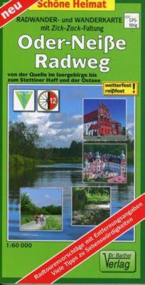 Radwander- und Wanderkarte mit Zick Zack Faltung Oder-Neiße-Radweg - Verlag Dr. Barthel pdf epub