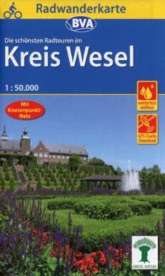Radwanderkarte BVA Radwandern im Kreis Wesel am Niederrhein -  pdf epub
