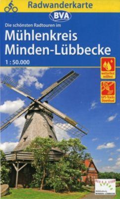Radwanderkarte BVA Radwandern im Mühlenkreis Minden-Lübbecke 1:50.000, reiß- und wetterfest, GPS-Tracks Download