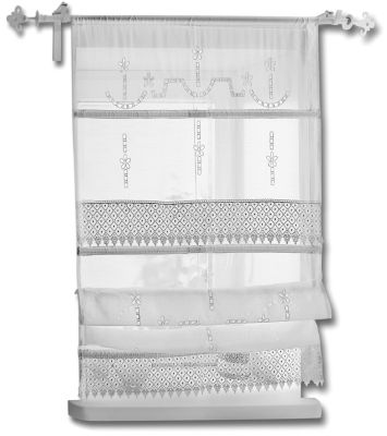 raffrollo spitze gr e 80 x 140 cm bestellen. Black Bedroom Furniture Sets. Home Design Ideas