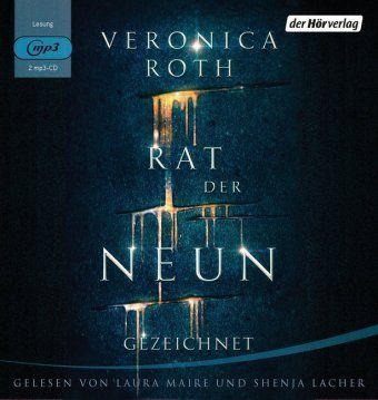 Rat der Neun - Gezeichnet, 2 MP3-CDs, Veronica Roth