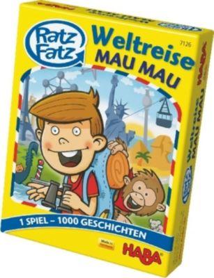 Ratz Fatz Weltreise Mau Mau (Kartenspiel)