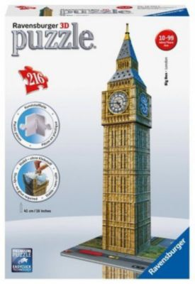 Ravensburger 3D Puzzle Big Ben, 216 Teile