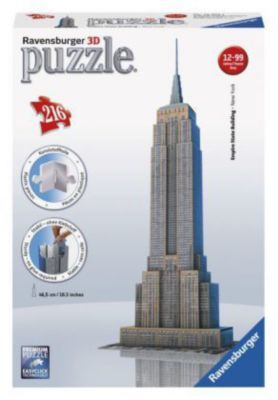 Ravensburger 3D Puzzle Empire State Building, 216 Teile