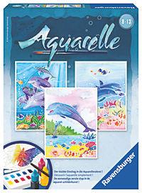 "Ravensburger - Aquarelle ""Delfine"", 3er-Set - Produktdetailbild 1"