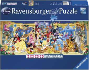 Ravensburger Puzzle Disney Gruppenfoto, 1000 Teile Panorama