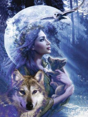 Ravensburger Puzzle Wolfsfrau, 1000 Teile