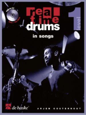 Real Time Drums in Songs, m. Audio-CD, Arjen Oosterhout