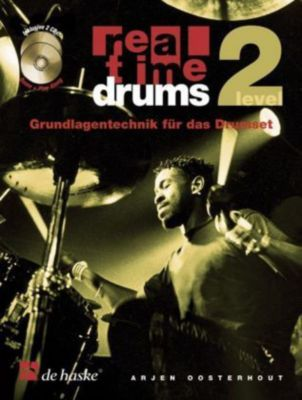 Real Time Drums, m. 2 Audio-CDs, Arjen Oosterhout