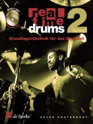 Real Time Drums, m. 2 Audio-CDs, Arjen Oosterhout