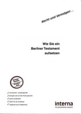 Recht und Vermögen: Wie Sie ein Berliner Testament aufsetzen, Christina Klein