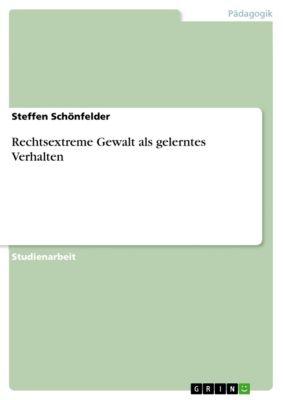 Rechtsextreme Gewalt als gelerntes Verhalten, Steffen Schönfelder