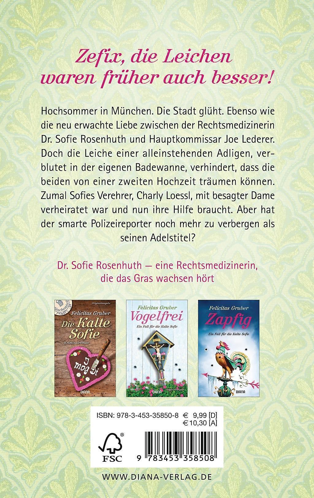 Rechtsmedizinerin Sofie Rosenhuth Band 3 Blaues Blut Buch