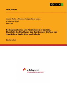 Rechtspluralismus und Paralleljustiz in Somalia. Pluralistische Strukturen des Rechts unter Einfluss von Staatlichem Recht, Xeer und Scharia, Jakob Reinecke