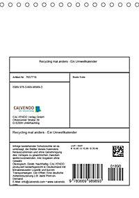 Recycling mal anders - Ein Umweltkalender (Tischkalender 2019 DIN A5 hoch) - Produktdetailbild 13