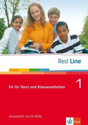 Red Line: Bd.1 Klasse 5, Fit für Tests und Klassenarbeiten, Arbeitsheft m. CD-ROM