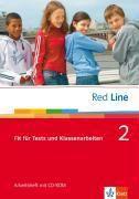 Red Line: Bd.2 Klasse 6, Fit für Tests und Klassenarbeiten, Arbeitsheft m. CD-ROM