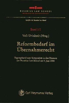 Reformbedarf im Übernahmerecht -  pdf epub