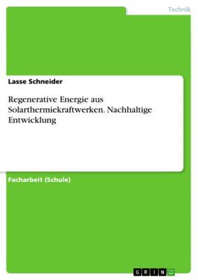 Regenerative Energie aus Solarthermiekraftwerken. Nachhaltige Entwicklung, Lasse Schneider