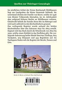 Register zu den Kirchenbüchern der evg.-luth. Kirchgemeinde Sollstedt 1642-1803 - Produktdetailbild 1