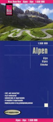 Reise Know-How Landkarte Alpen / Alps / Alpes(1:550.000)