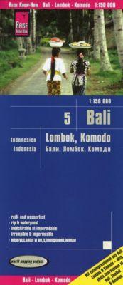 Reise Know-How Landkarte Bali, Lombok, Komodo (1:150.000) - Indonesien 5