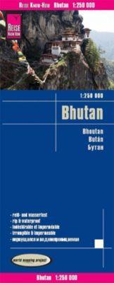 Reise Know-How Landkarte Bhutan (1:250.000); Bhoutan / Bután