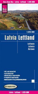 Reise Know-How Landkarte Lettland (1:325.000); Latvia / Lettonie / Letonia - Reise Know-How Verlag Peter Rump  
