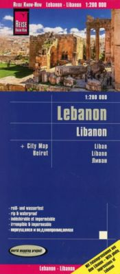 Reise Know-How Landkarte Libanon / Lebanon (1:200.000) - Reise Know-How Verlag Peter Rump |