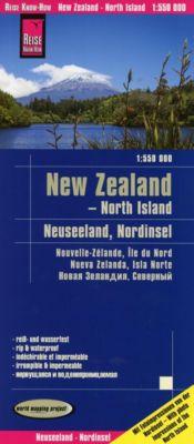 Reise Know-How Landkarte Neuseeland, Nordinsel (1:550.000); New Zealand - North Island - Reise Know-How Verlag Peter Rump |