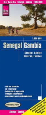 Reise Know-How Landkarte Senegal, Gambia (1:550.000); Senegal, The Gambia / Sénégal, Gambie - Reise Know-How Verlag Peter Rump |
