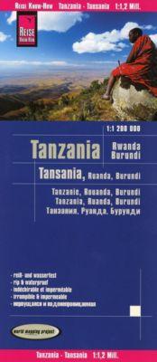 Reise Know-How Landkarte Tansania, Ruanda, Burundi (1:1.200.000); Tanzania, Rwanda, Burundi / Tanzanie, Rouanda, Burundi