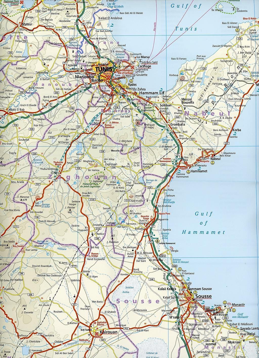 Tunesien Karte.Reise Know How Landkarte Tunesien 1 600 000 Mit Djerba 1