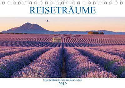 Reiseträume - Sehnsuchtsziele rund um den Globus (Tischkalender 2019 DIN A5 quer), Christine Büchler und Martin Büchler