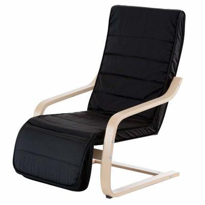 Relaxsessel mit verstellbarem Fußteil (Farbe: schwarz)