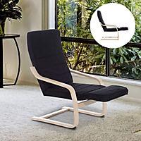 Relaxsessel mit verstellbarem Fußteil (Farbe: schwarz) - Produktdetailbild 1