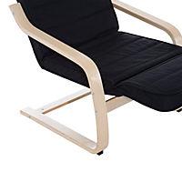 Relaxsessel mit verstellbarem Fußteil (Farbe: schwarz) - Produktdetailbild 8